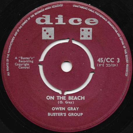 On The Beach / Young Lover - Owen Gray And Busters Group