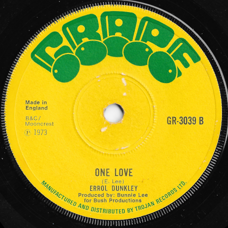 Why Did You Do It / One Love - Errol Dunkley
