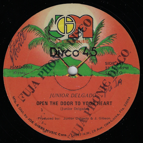 Open The Door To Your Heart / I Need To Come In - Junior Delgado / Joe Gibbs And The Professionals