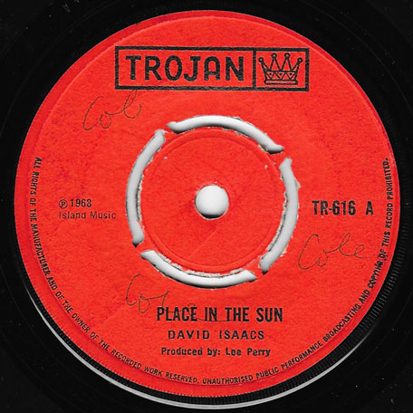 Place In The Sun / Handy Cap - David Isaacs / Upsetter All Stars