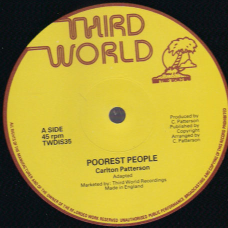Poorest People / Sound Track - Carlton Patterson / Bobby Ellis and Headley Bennett