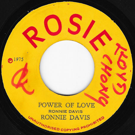 Power Of Love / King Tubbys In Fine Style - Ronnie Davis / King Tubby