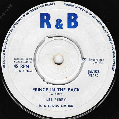 Prince In The Back / Dont Copy - Lee Perry