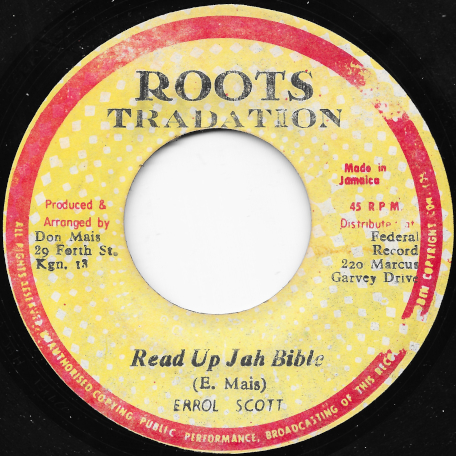 Read Up Jah Bible / Ver - Errol Scott
