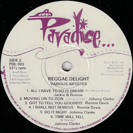 Reggae Delight Vol 1 - Various..Hortense Ellis..Cornel Campbell..Frankie Jones..Ronnie Davis..Johnny Clarke