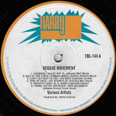 Reggae Movement - Various..The Cables..Val Bennett..Bob Andy..Busty Brown