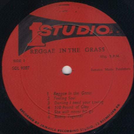 Reggae In The Grass - Various..Bob Andy..The Consumates..Val Bennet