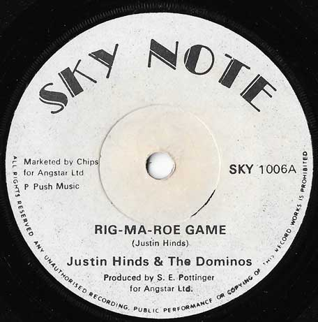 Rig Ma Roe Game / Ver - Justin Hinds And The Dominoes
