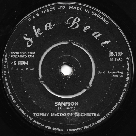 Sampson / My Arms Are Waiting - Tommy McCooks Orchestra / Roy And Paulette