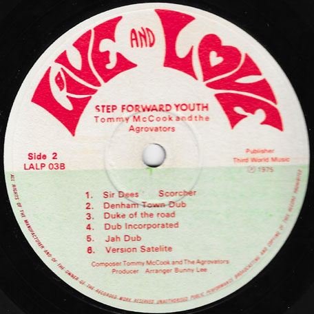 Step Forward Youth - Prince Jazzbo Meet I Roy Meets Tommy McCook In Dub
