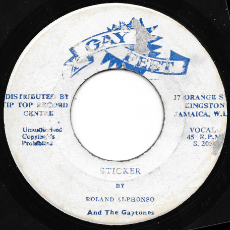 Sticker / We Will Make Love - Roland Alphonso And The Gaytones / Lou Sparkes aka Lloyd Parks