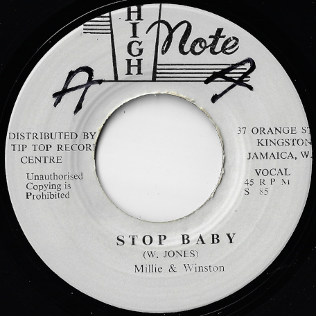 Stop Baby / Version Of Love - Millie And Winston