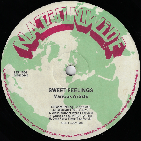 Sweet Feelings - Various..The Abyssinians..The Royals..Wayne Wade..Pat Kelly..Larry Marshall