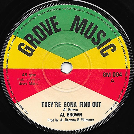 Theyre Gonna Find Out / Find Out Is A Must Ver - Al Brown