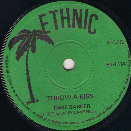 Throw A Kiss / Daddys Home - Dave Barker / Junior English