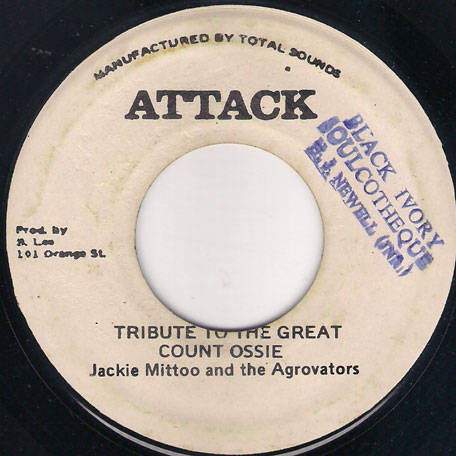 Tribute To The Great Count Ossie / Aggrovating Version - Jackie Mittoo / Jah Stitch