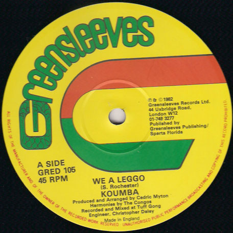 We A Leggo / Billy - Koumba