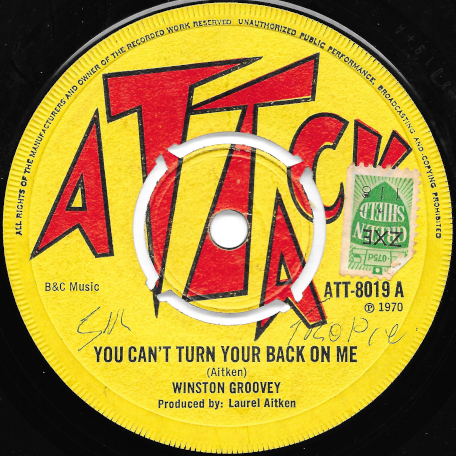 You Cant Turn Your Back On Me / The Worm - Winston Groovy / Pama Dice