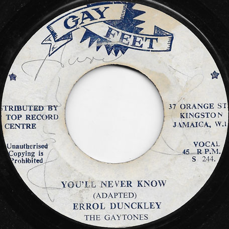 Youll Never Know / Ver - Errol Dunkley And The Gaytones