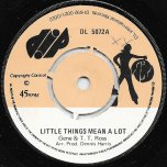 Little Things Mean A Lot / Ver - Gene Rondo And T T Ross / Hot Ice