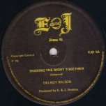 Sharing The Night Together / I Wont Take You Back - Delroy Wilson