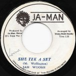 She Tek A Set / Tek A Dub - Jah Woosh / Jah Man All Stars