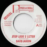 Stop Look And Listen / Listen And Learn Dub - David Jahson / Sly And Robbie