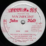 Channel One Presents The Magnificent John Holt - John Holt