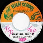 What Did You Say / Ver - Dennis Alcapone / Prince Tony All Stars